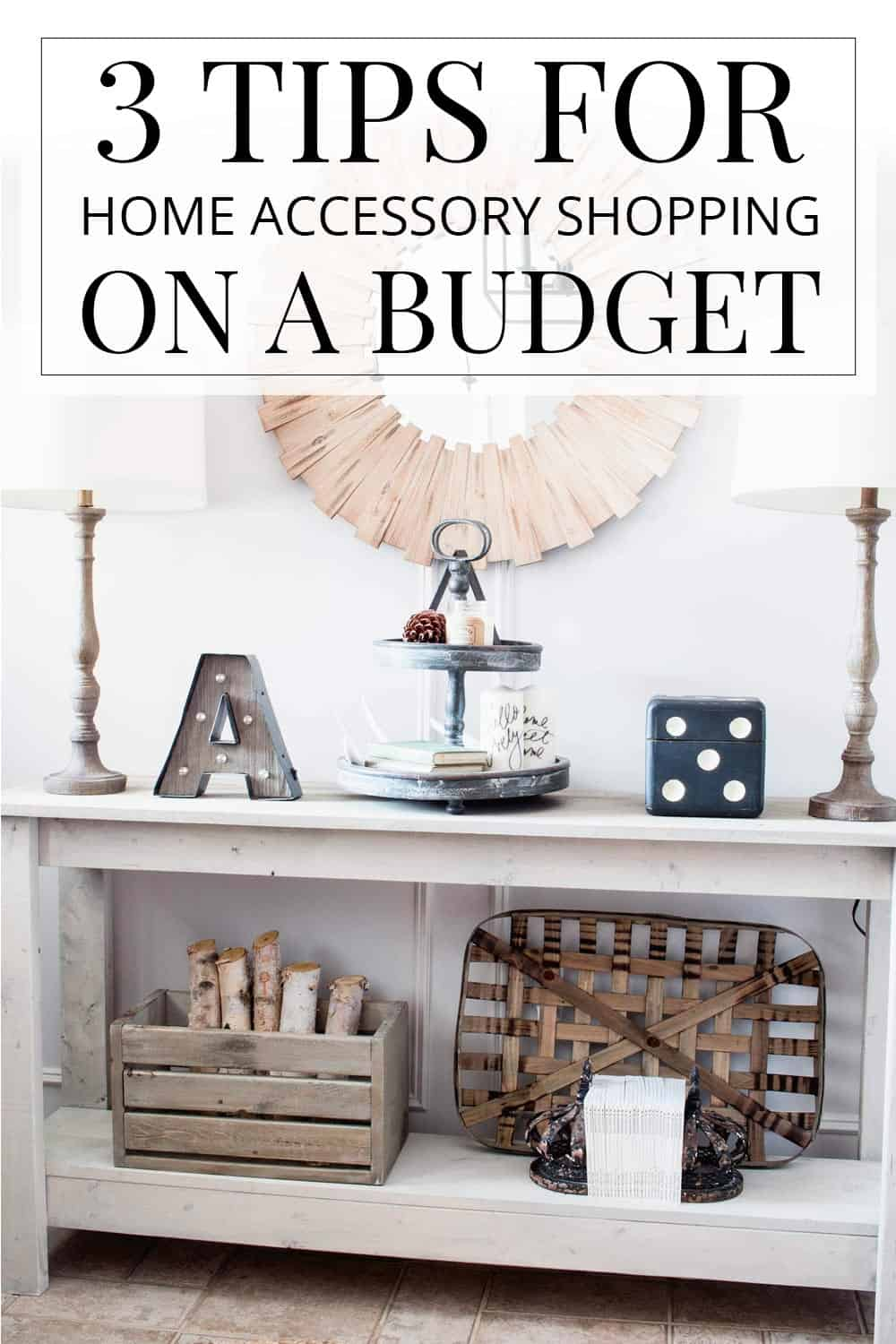 entryway table, farmhouse style decor