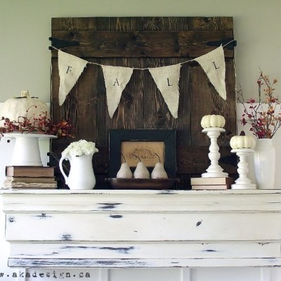 Fall Mantel & 2012 Living Room