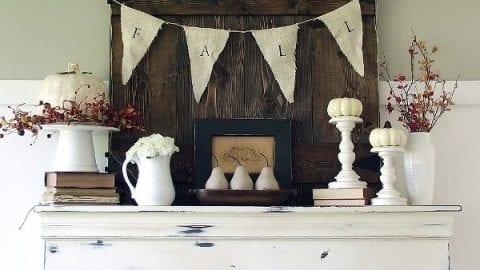 Fall Mantel & 2012 Living Room