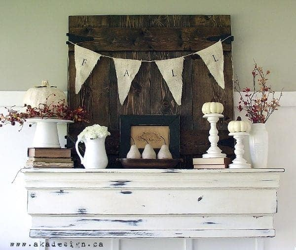 fall 2012 mantel