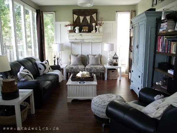 fall living room modern country