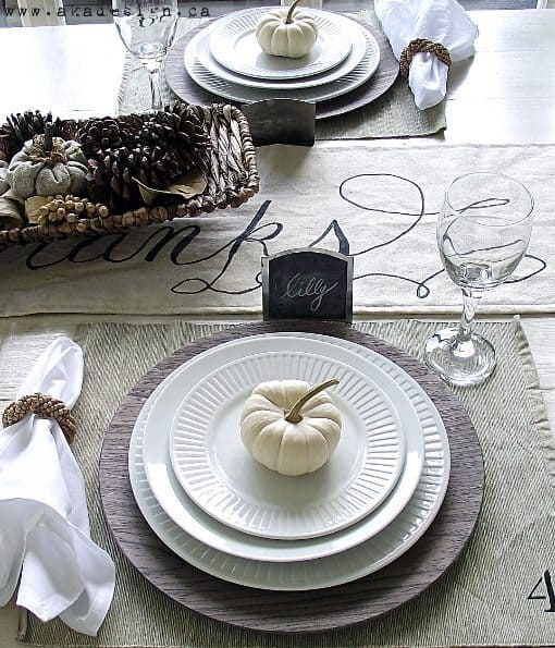 Fall table decorations dining room Modern fall table decorations