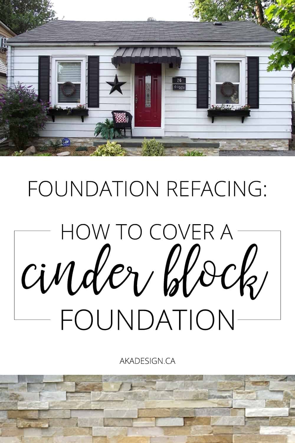 Foundation Refacing How To Cover A Cinder Block Foundation