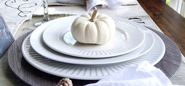 Fall Table Decorations & Dining Room