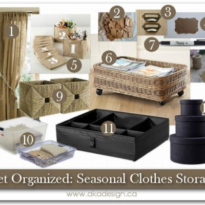 Get Organized: Seasonal Clothes Storage