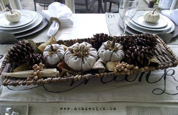 cinderella pumpkins in bread basket