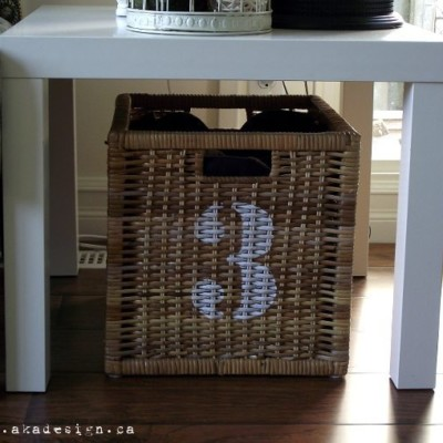 DIY Industrial Numbered Baskets
