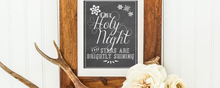 Oh Holy Night (Christmas Printable Art)