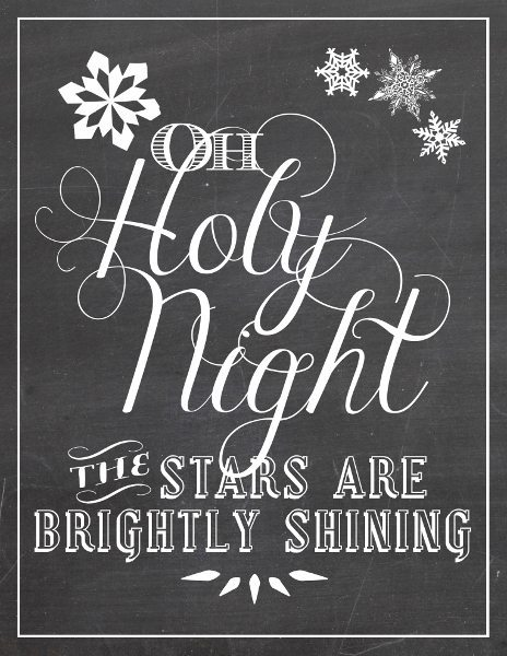 Oh holy night free christmas printable art for O holy night decorations