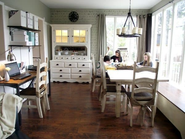 homeschooling without a school room - school at the dining room table