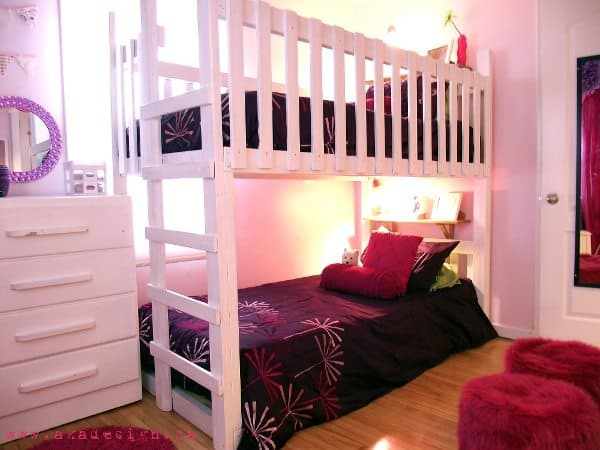 Rooms for girls with bunk beds