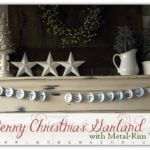 Merry Christmas Garland with Metal-Rim Tags