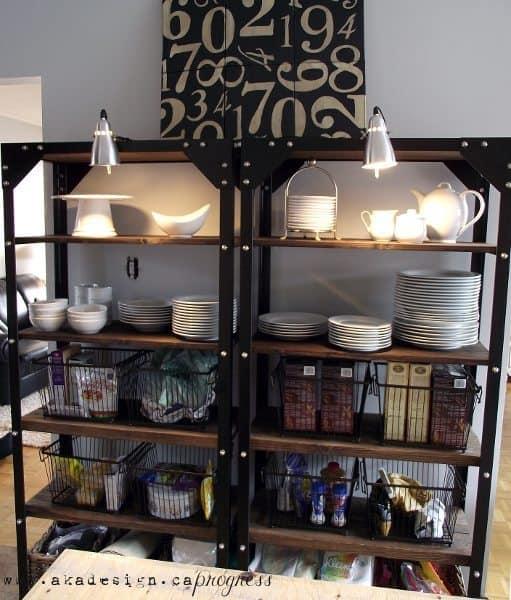 Industrial Kitchen Shelving: Kitchen Progress