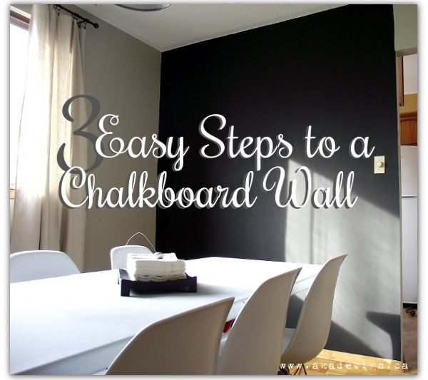 3 easy steps to a chalkboard wall