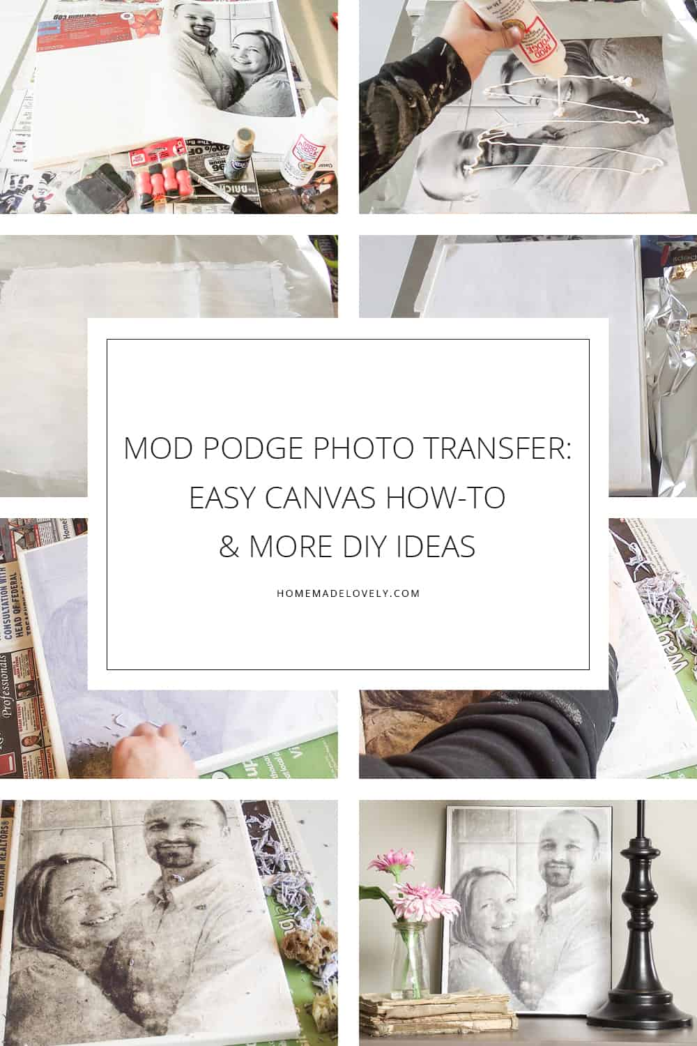 mod podge photo transfer easy custom canvas