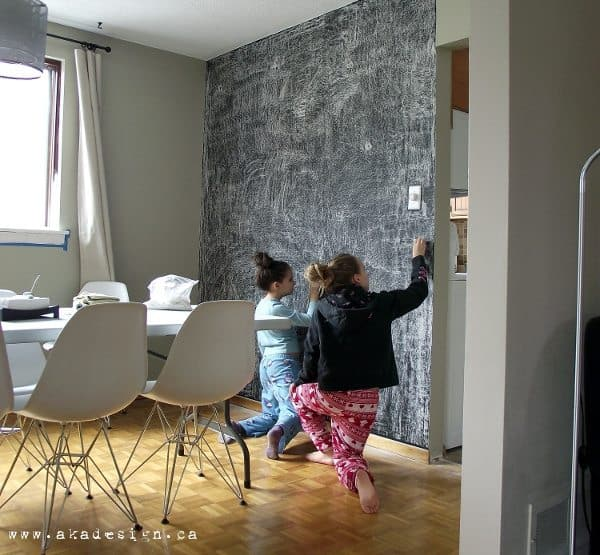 3 easy steps to a chalkboard wall for How to paint a wall with chalk paint