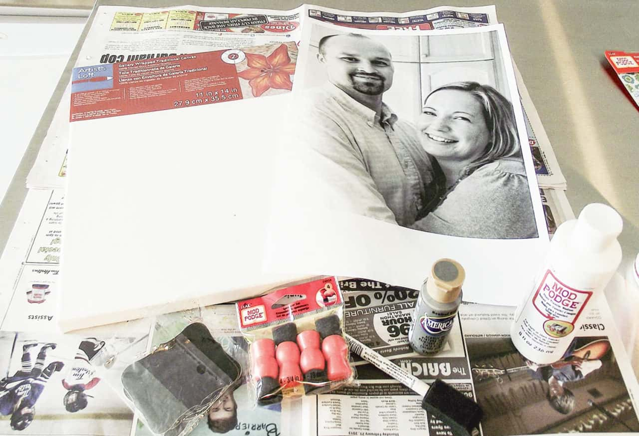 mod podge photo transfer supplies