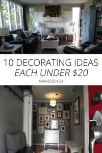10 decorating ideas under $20