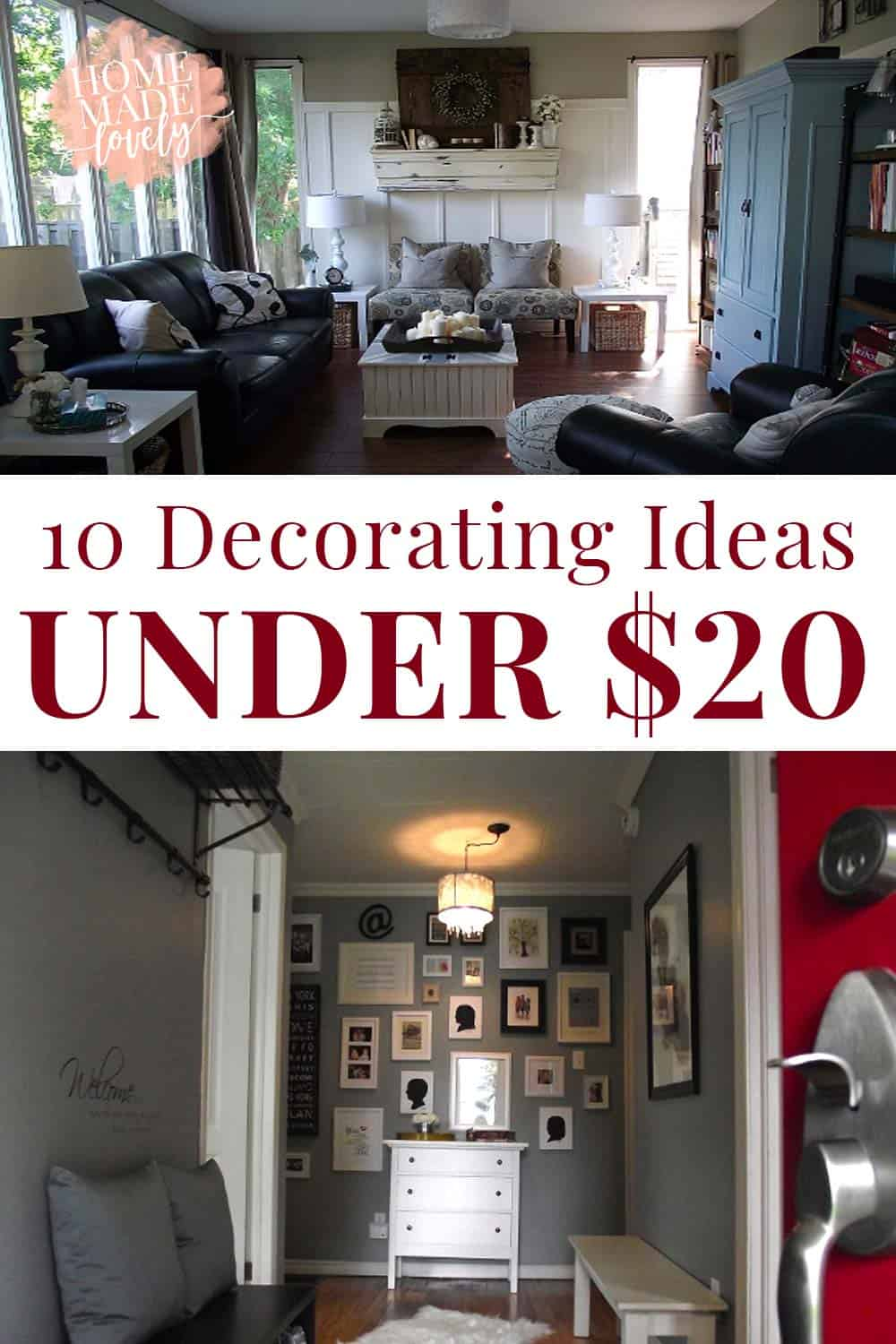 Have you ever wanted to dress up a room or change it up a little - without breaking the bank or taking several weekends to do it? Well, take a look at these 10 Decorating Ideas Under $20.