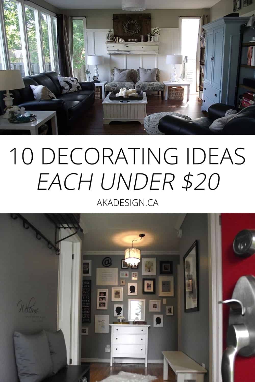 Oh my! Super easy ideas for decorating on the cheap!