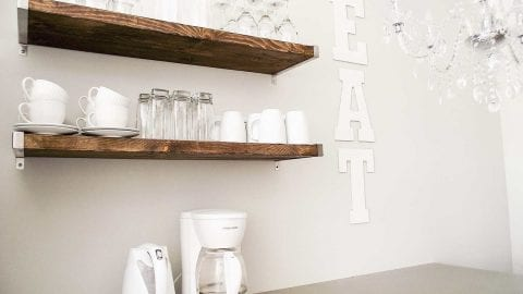 DIY Giant Glitter EAT Sign as a Fun Kitchen Accent