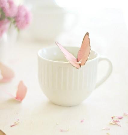 butterfly tea bag