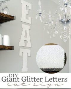 glitter eat sign