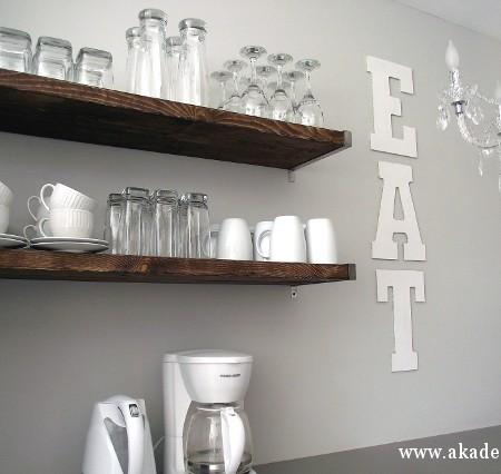 glitter eat letters on wall