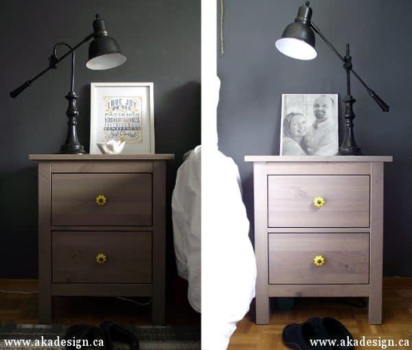 ikea hemnes nightstands new knobs