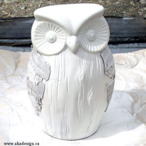 spray painted owl