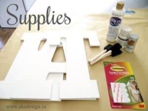 glitter eat sign supplies