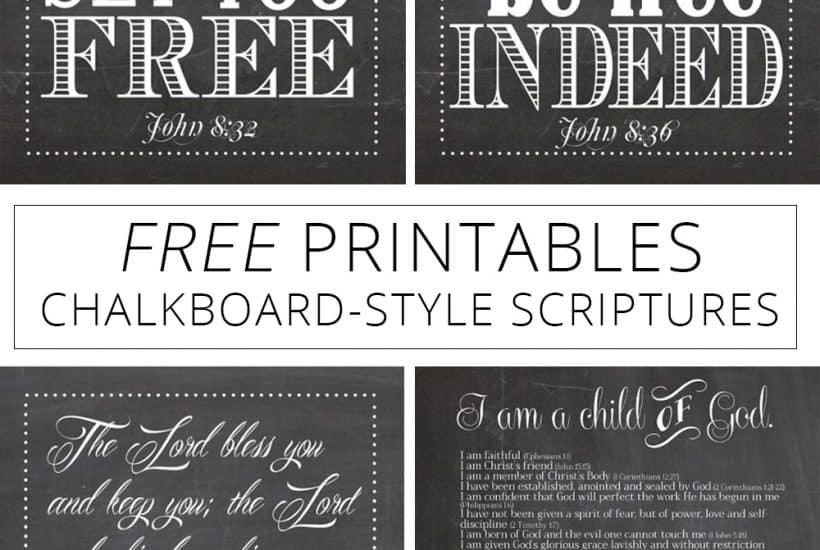 Free printables chalkboard-style scriptures