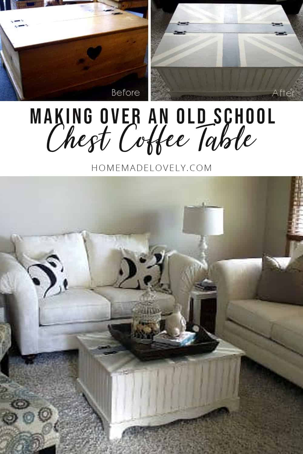 chest coffee table makeover
