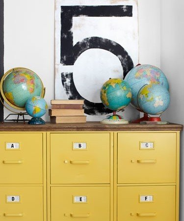 yellow file cabinet