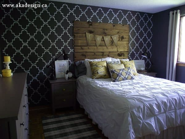 rustic chic master bedroom reveal - aka design