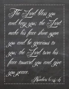 the lord bless you printable