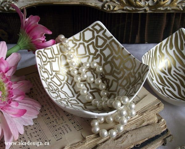 Decorate A Ceramic Bowl With Sharpie In Gold Animal