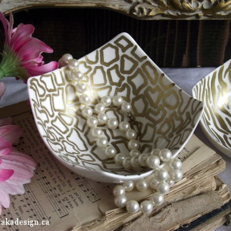 gold sharpie bowl