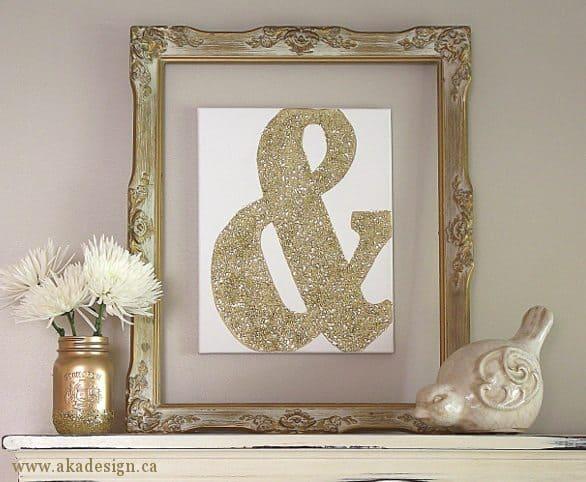 aka design golden ampersand canvas