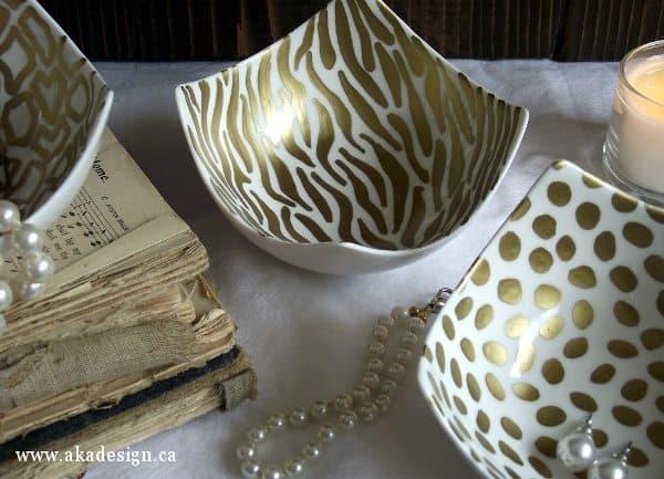 aka design zebra and cheetah bowls