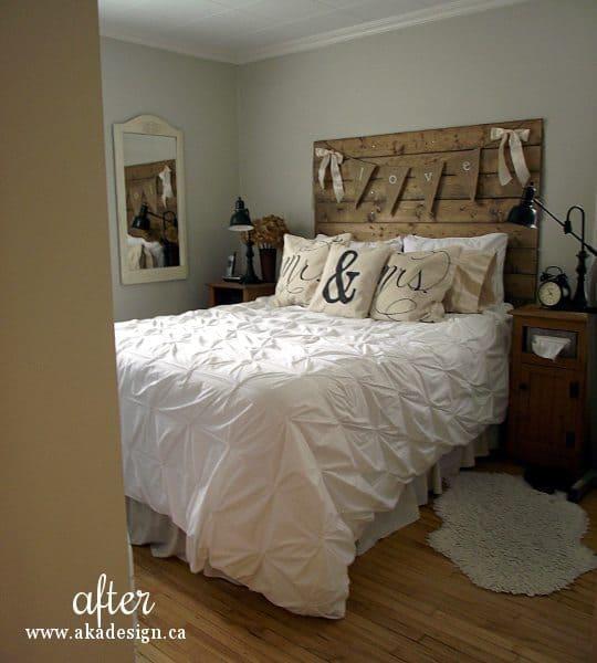bedroom 1 bed wall