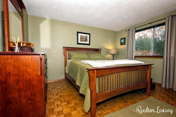 bedroom in realtor listing