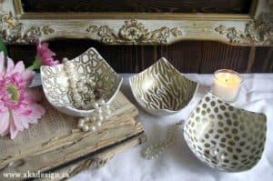 gold sharpie bowls
