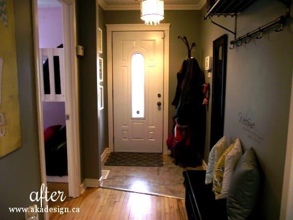 hallway to door after