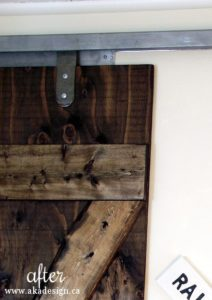 barn door hardware DIY