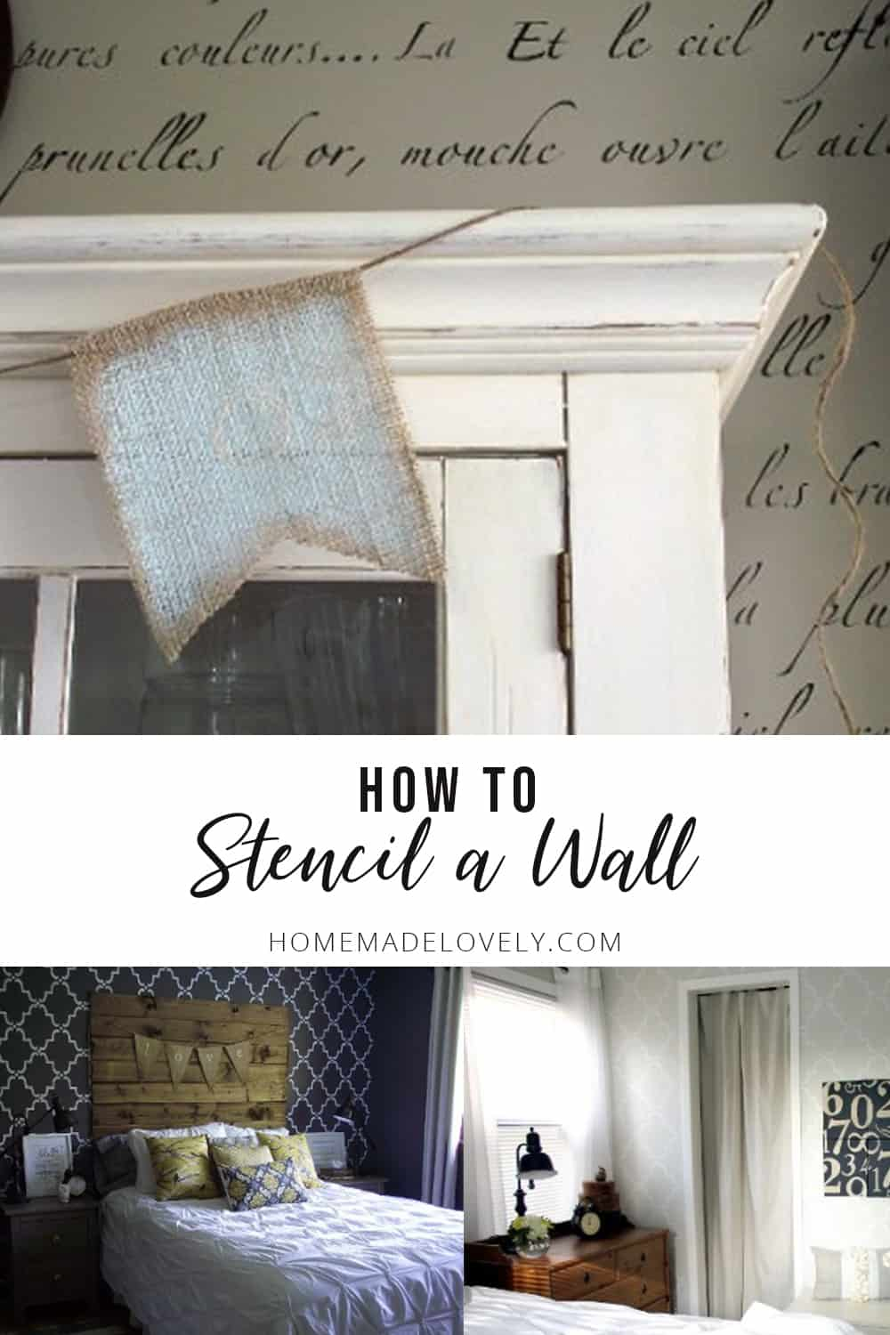 how to stencil a wall the easy way with three different rooms stenciled