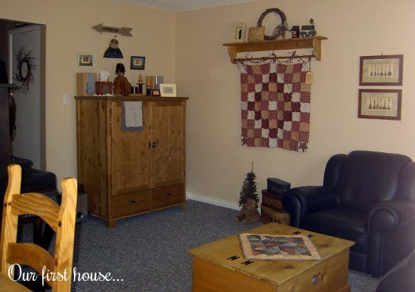 living room our first house