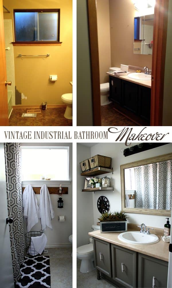 vintage industrial bathroom makeover a