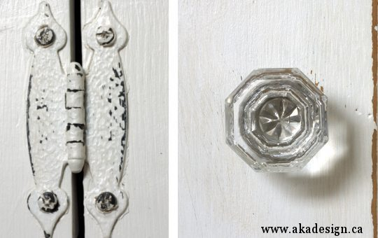 aka design step back cupboard new crystal knob and hinge