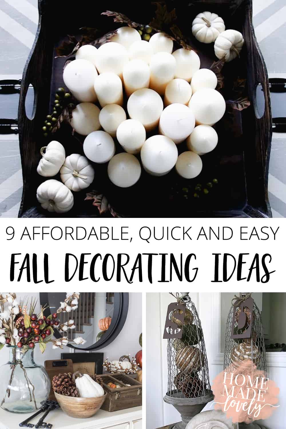 9 Affordable, Quick and Easy Fall Decorating Ideas
